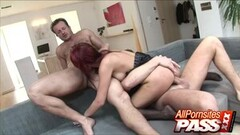 Two Dicks for Redhead Pornstar Claudia Adams Thumb