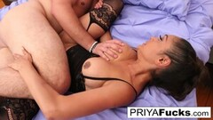 Brandi Bae and Ivy Lebelle in a threeway interracial sex Thumb