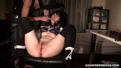 Frisky Asian and Blonde lesbian sexy time! Thumb