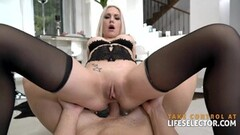 Frisky Anal fisting and XXL wine bottle fuck Thumb