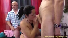 German milf rough group banged Thumb