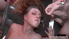 Naughty german 18yo girlfriend homemade blowjob pov and facial Thumb