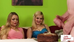 A steamy lesbian threesome with Ember Snow and Sabina Rouge Thumb