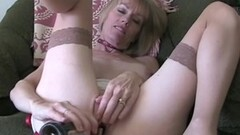 Blonde gets her mouth filled with cock Thumb